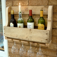 Rustic Wooden Wine Rack