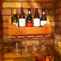 Rustic Wooden Wine Rack - Teak