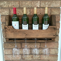 Rustic Wooden Wine Rack - Medium Oak