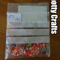 Nail Art Cane Slices - Bag of 7 different designs - 14 per design (98 pieces)