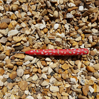 MULTI DRAGONFLIES Red Clay TAIL CATCHER for sewing,embroidery,etc.