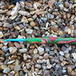 Crochet Hook Size 5 mm Red and Green Clay Swirl handle