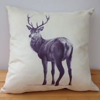 Faux suede Red Stag cushion