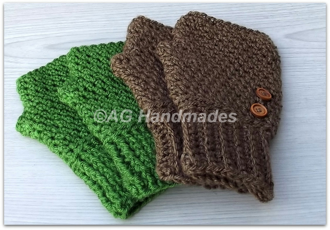 Crochet Pattern for 20:20 Fingerless Gloves; pattern emailed