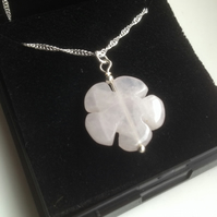 Carved Rose Quartz Necklace