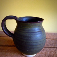 Pottery handthrown natural brown Matt glaze mug