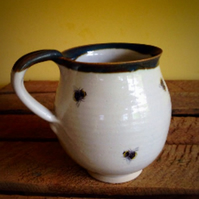 Pottery cup mug stoneware ceramic multiple bee handmade