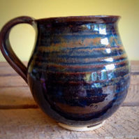 Ceramic  pottery stoneware handmade mug cup heather