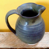Natural brown milk jug stoneware ceramic pottery