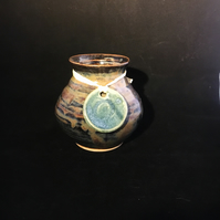 Pottery heather vase handthrown flower vase