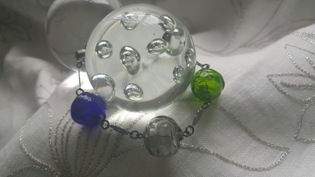 The Hollow Lampwork Bead Bracelet
