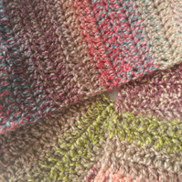 Multi Coloured Acrylic Yarn Wool Scarf