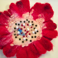 "Brooch "" Red """