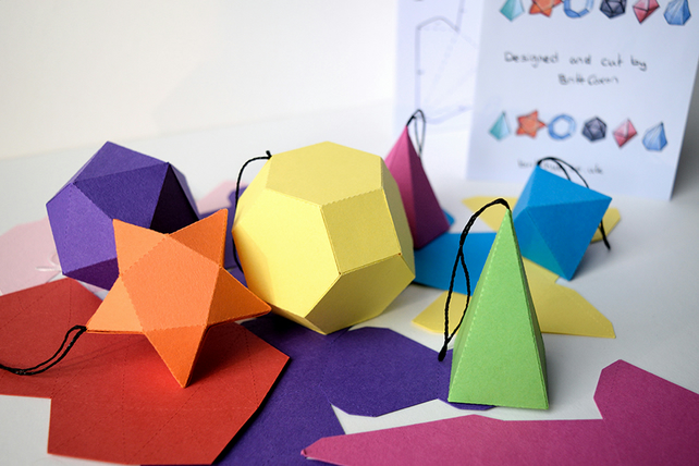 3D Mathematical Paper Shapes Activity Pack