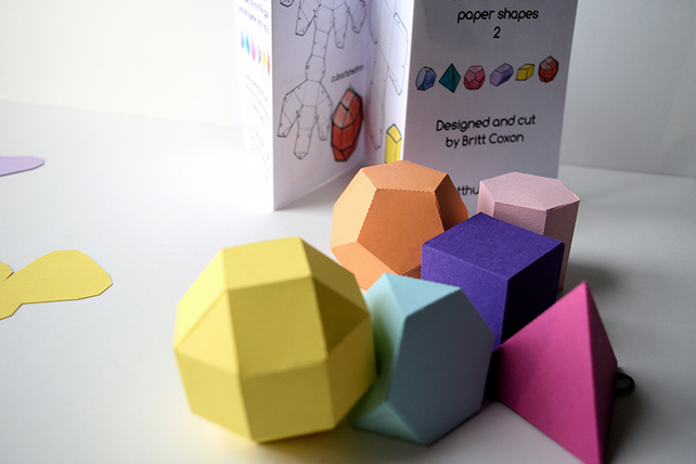 3D Mathematical Paper Shapes Activity Pack 2