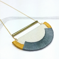 CRAVEN - Linen, Thread and Gold - Steel and Mustard