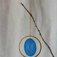 Christmas Decoration in Cobalt Blue