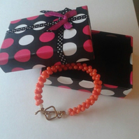 Sun Goddess Beautiful Genuine Coral Bracelet