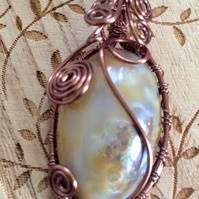 Gorgeous Ammonite Wire Wrapped Cabochon