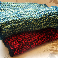 RED CROCHET INFINITY SCARF