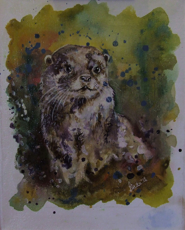 Otter Watercolour Painting