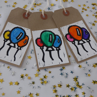 3 printed Balloon gift tags