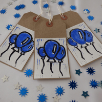 Set of 3 printed balloon gift tags