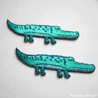 Large Crocodile Iron On Patch