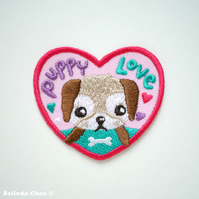 Puppy Love Iron On Patch