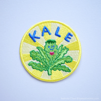 Kale Heart - Veggie love Iron On Patch