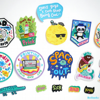 Bel's Art World - 6 x Mix and Match Iron on Patches