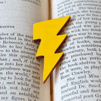 Bright Yellow Painted Lightning Bolt Brooch
