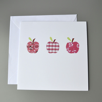 Three Red Apples Blank Card or Teachers Card