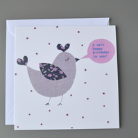 Birthday Birdie Birthday card