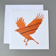 Wooden Bird Silhouette Card