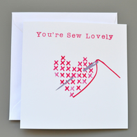 Sew Lovely Cross Stitch Anniversary Card