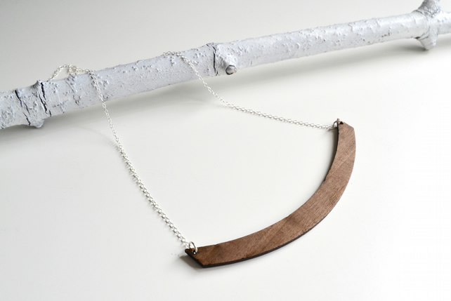 Wooden Arc Necklace