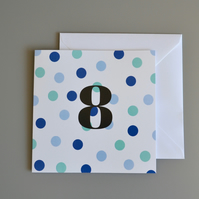 8th Birthday Card for Boy, Age Eight, Eighth Birthday Card