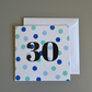 30th Birthday Card for Him -30 - Thirty - Thirtieth Birthday Card