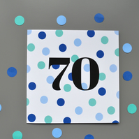 70th Birthday Card for Him - 70 - Seventy - Seventieth Birthday Card