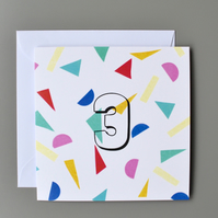 3rd Birthday Card, Age Three, Third Birthday Card, 3, Confetti Card, Unisex Card