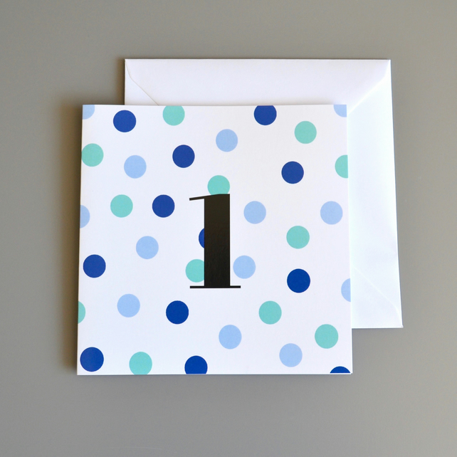 1st Birthday Card for Boy, Age One, First Birthday