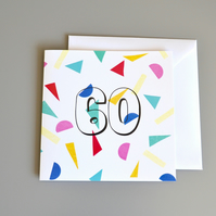 Confetti 60th Birthday Card