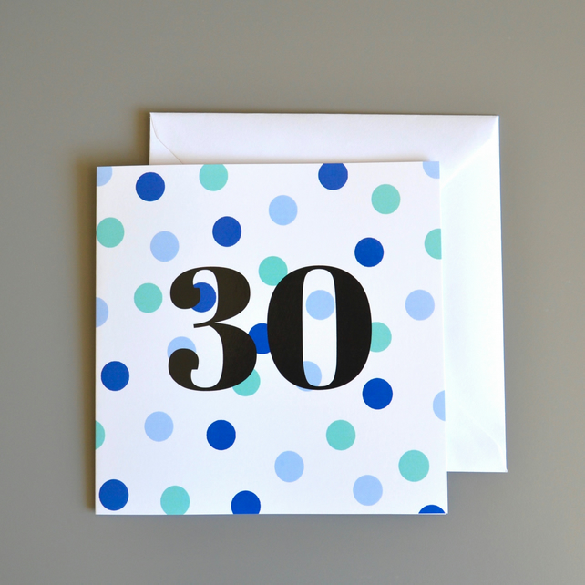 30th Birthday Card For Him 30