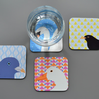 Set of Four Bird Coasters