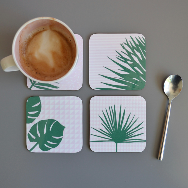 Set of Four Plant Coasters