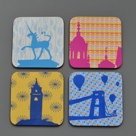 Set of Four Bristol Skyline Coasters