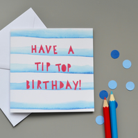 Tip Top Birthday Card