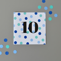 10th Birthday Card for Boy, Age Ten, Tenth Birthday Card