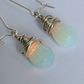 Rainbow Moonstone Sterling Silver Earrings Gemstone Earrings Moonstone Drop